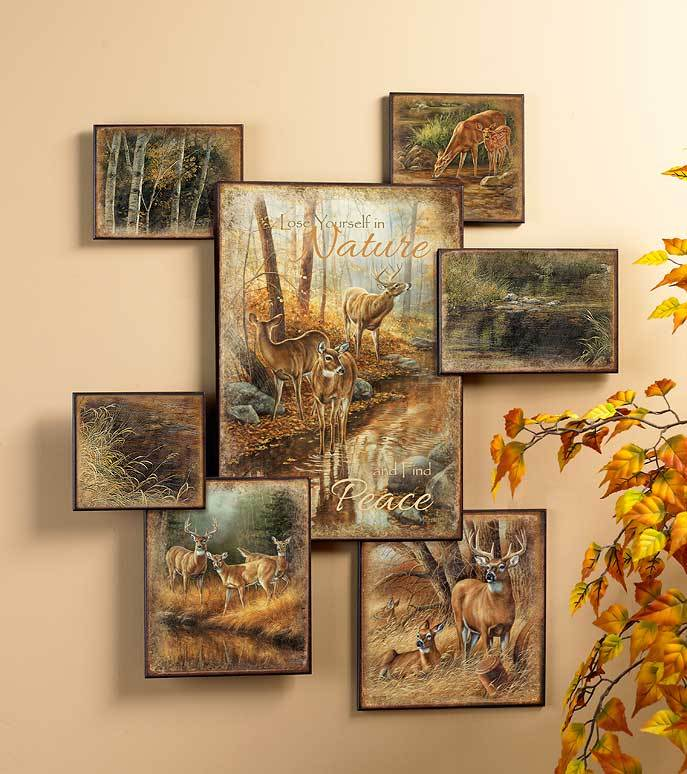 Whitetail Deer Wall Collage
