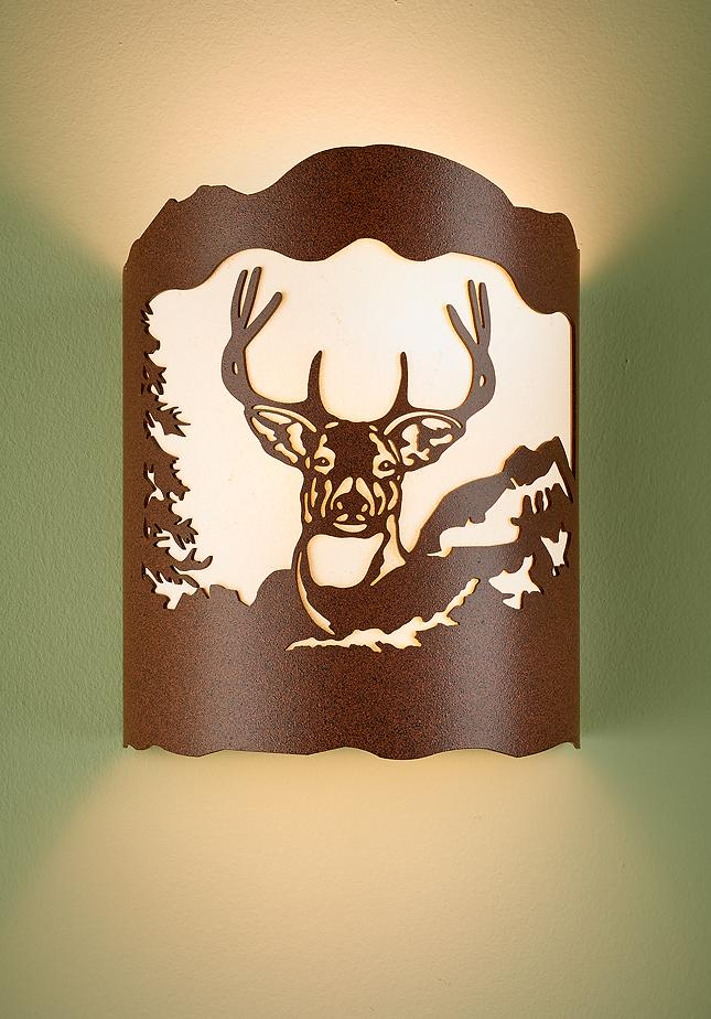 Whitetail Deer Wall Sconce