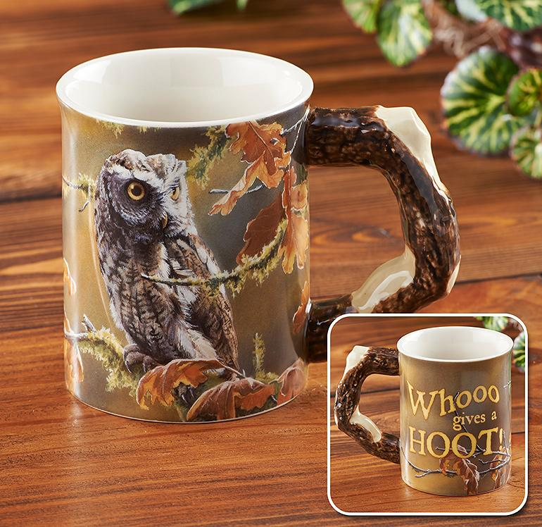 Owl Sculpted Mug