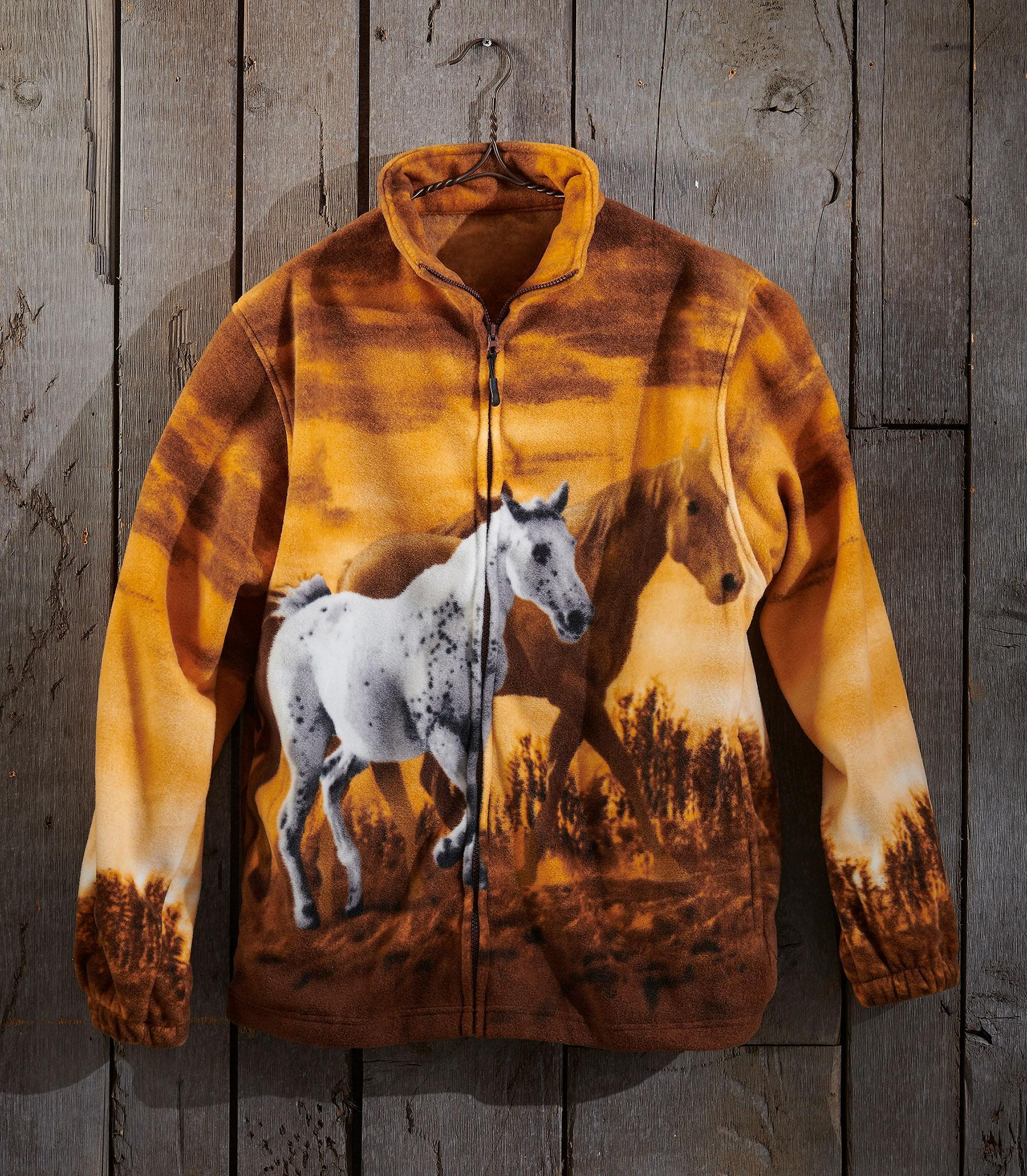 Wild Horse Tan Fleece Jacket
