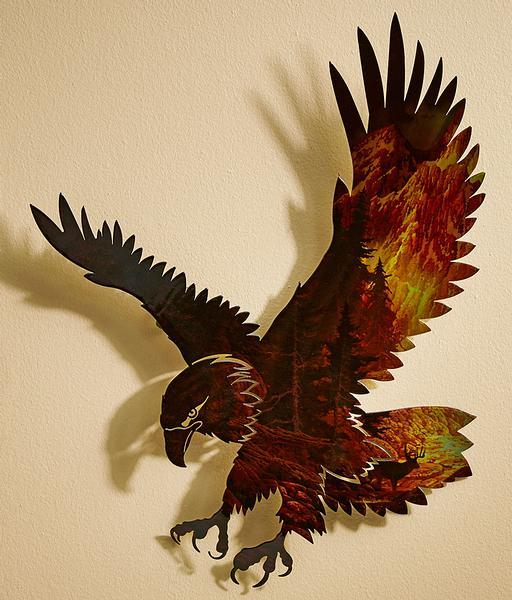In The Wilderness Eagle Metal Wall Art