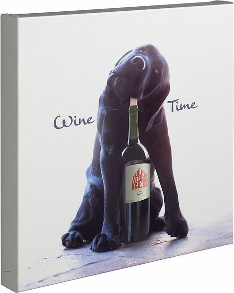 <I>Wine Time</i> Gallery Wrapped Canvas