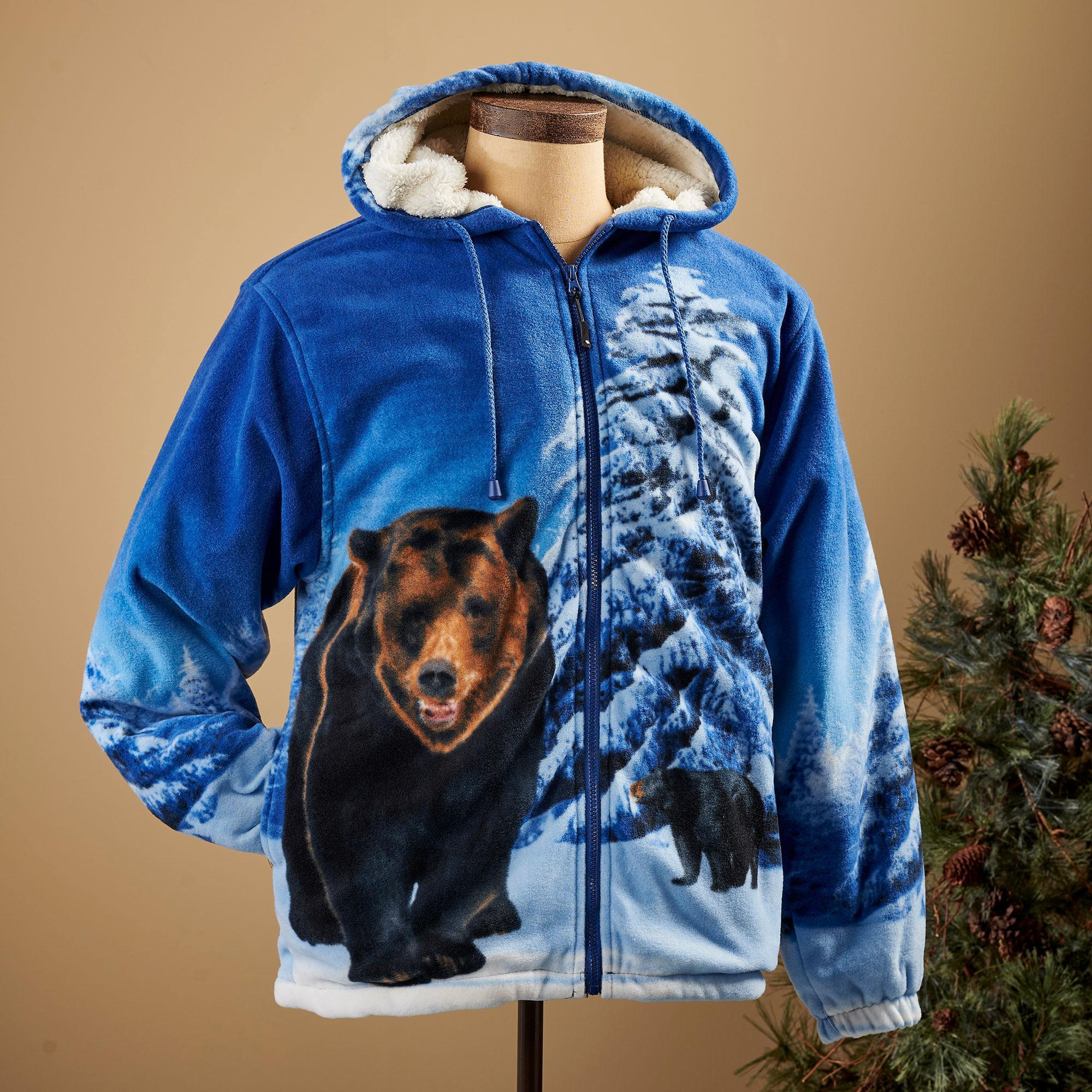 Winter Bears Plush Hooded Jacket