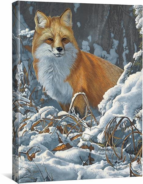 <I>Winter Scout&mdash;red Fox</i> Gallery Wrapped Canvas