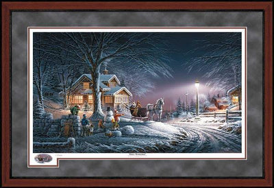 Winter Wonderland Framed Limited Edition Print<Br/>29H X 42W Art Collection