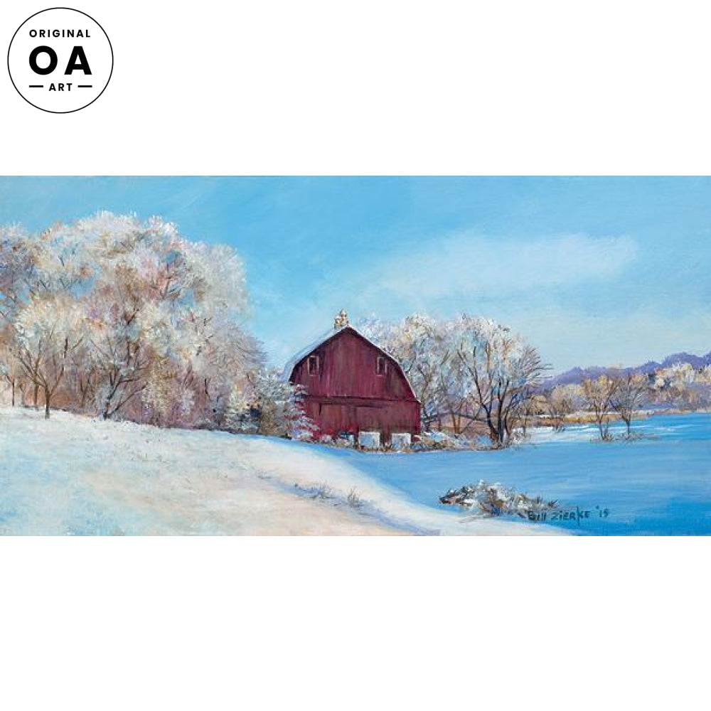 <i>Winter Wonderland&mdash;Red Barn</i> Original Artwork