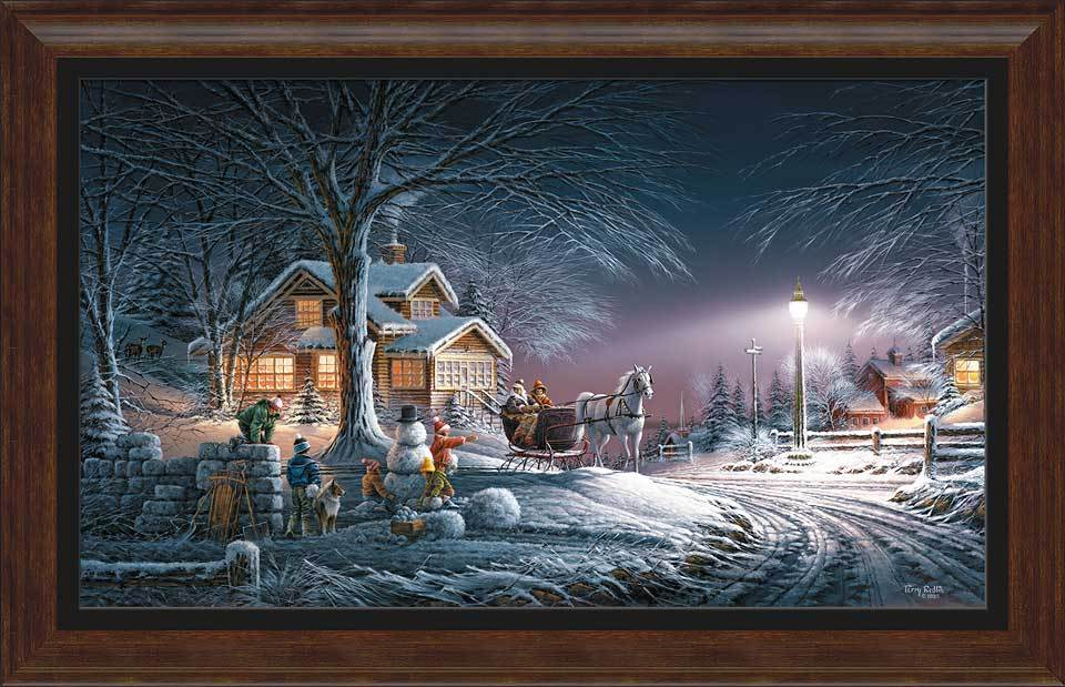 Winter Wonderland Framed Museum Canvas<Br/>30.5H X 47W Art Collection