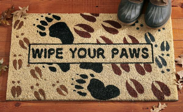 Wipe Your Paws.