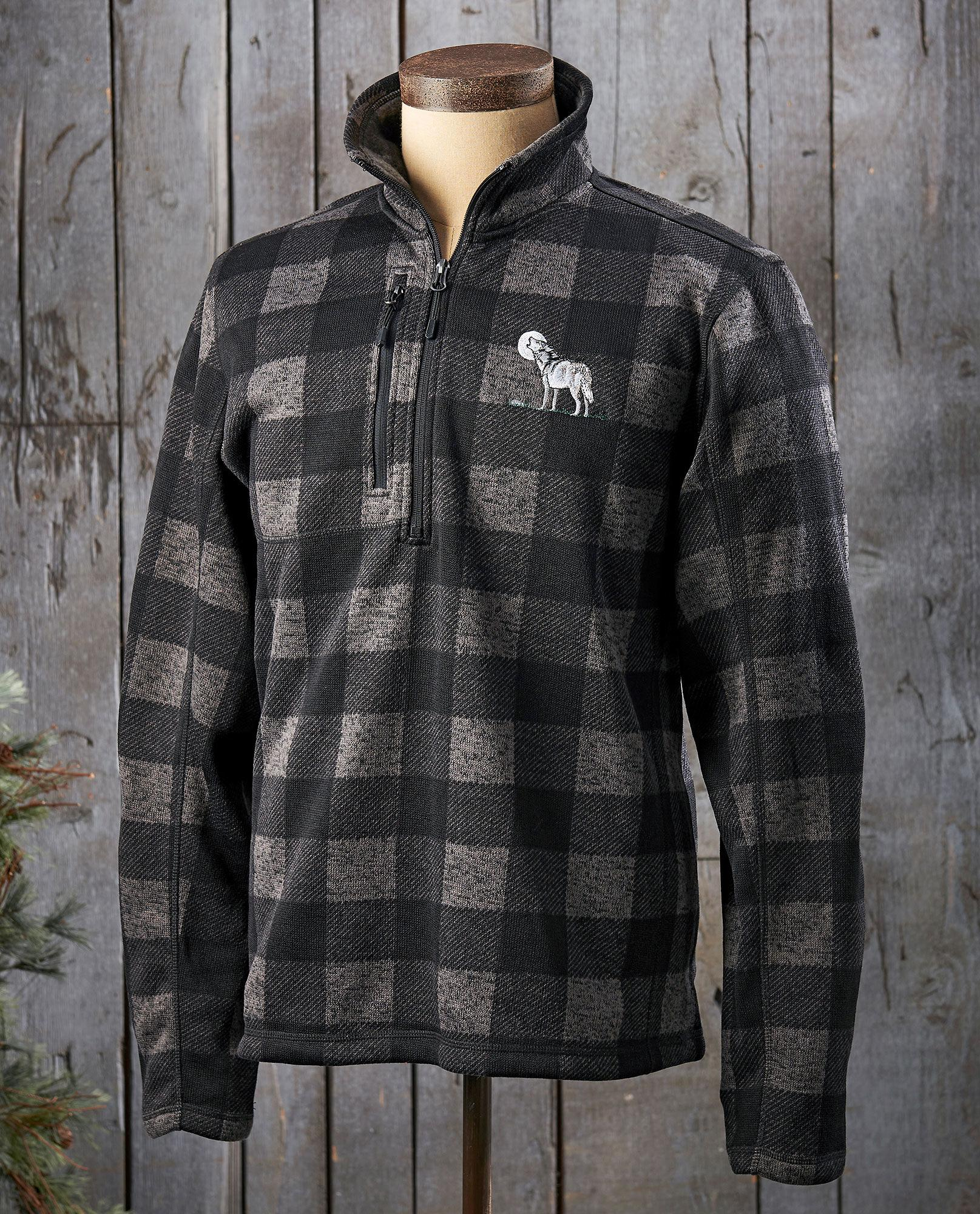 Wolf Moon Charcoal Plaid.