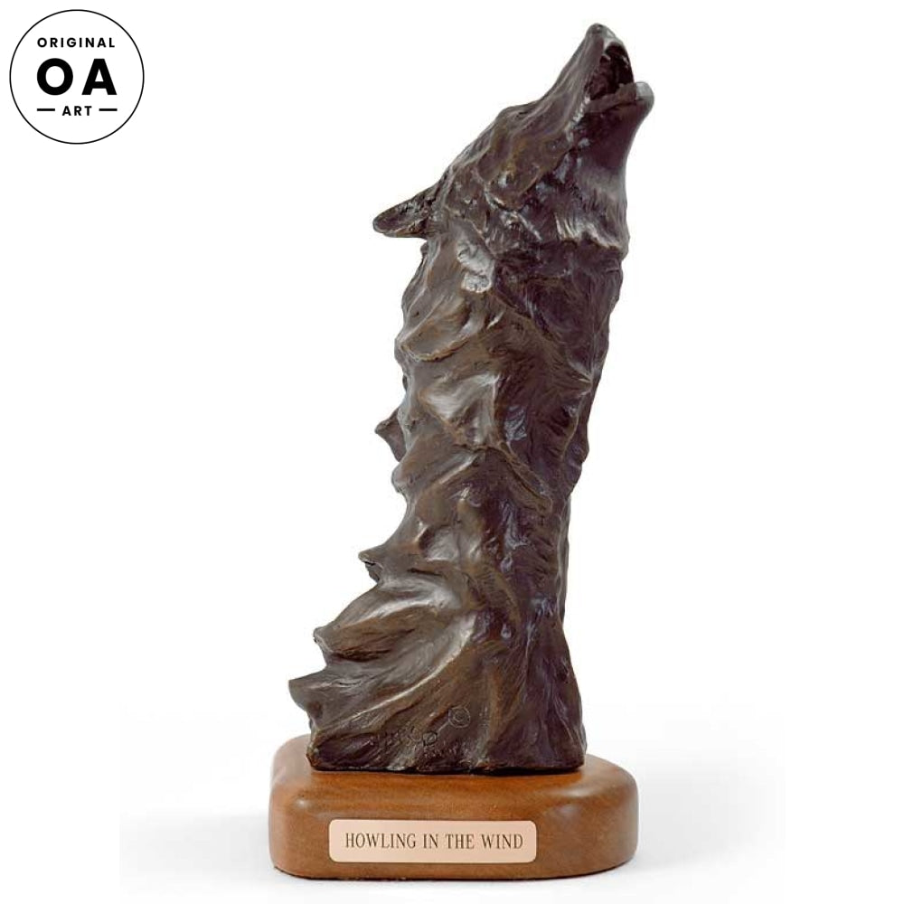 Howling Wolf Original Bronze Sculpture
