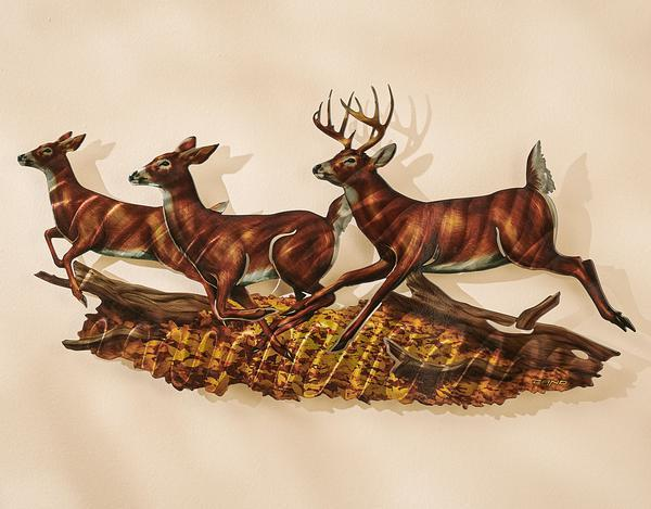 Woodland Rundeer Metal Wall Art