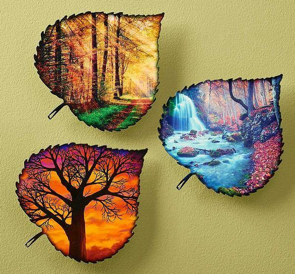 Autumn Leaves Metal Wall Art