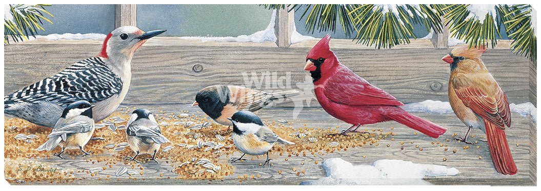 Winter Feast-Birds Art Collection