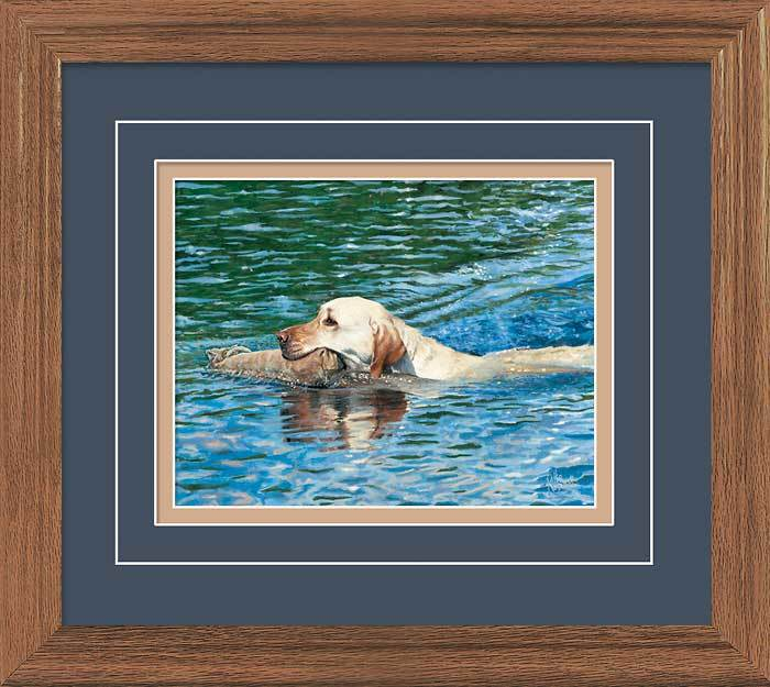 Dog Paddle—Yellow Lab