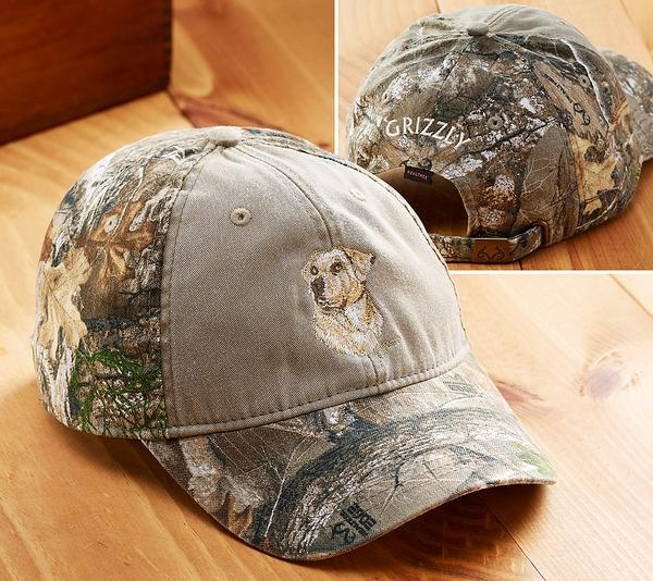 <I>Yellow Lab Sporting Dog</i> Personalized Camo Cap