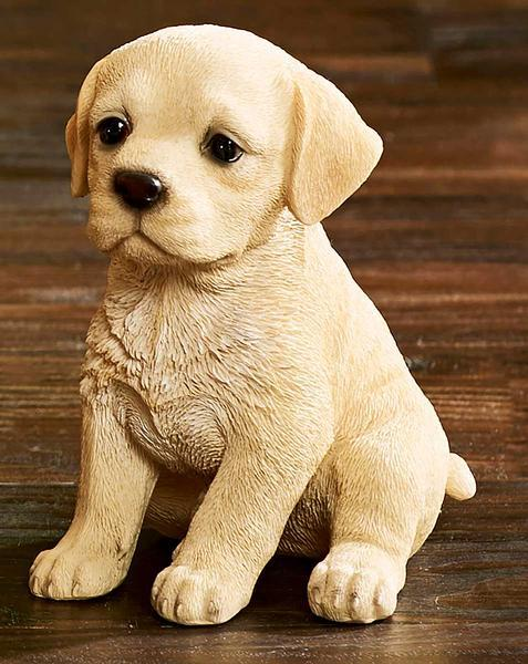 <I>Yellow Lab Puppy</i> Sculpture