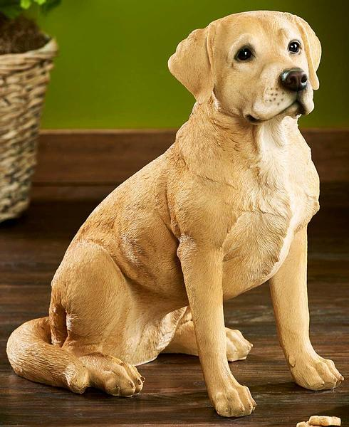 <I>Adult Yellow Lab</i> Sculpture