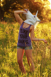 I Like Your Khakis on Women's Tri-Blend Racerback Tank