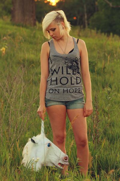 I Will Hold On Hope on Women's Tri-Blend Racerback Tank