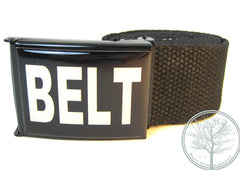 "1.5"" BELT on Black buckle with Black web Belt"