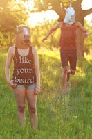 I like your beard on Women's Tri-Blend Racerback Tank