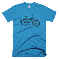 Exploded bike diagram on US made american apparel t-shirt
