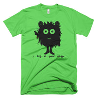 This Is Oogy. Oogy Lives in your nose! on American Apparel Unisex Short-Sleeve T-Shirt