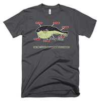 Mmmm Tasty Fish on US Made American Apparel 100% Cotton T