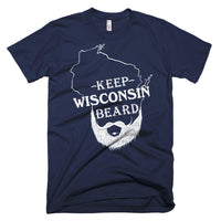 Keep Wisconsin Beard on US made American Apparel dark colored