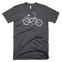 White Exploded Bicycle diagram on US Made American Apparel tshirt