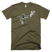 Bubble Bazooka on US Made American Apparel unisex tshirt