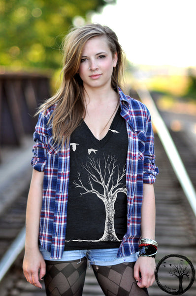 Bare Tree V-neck