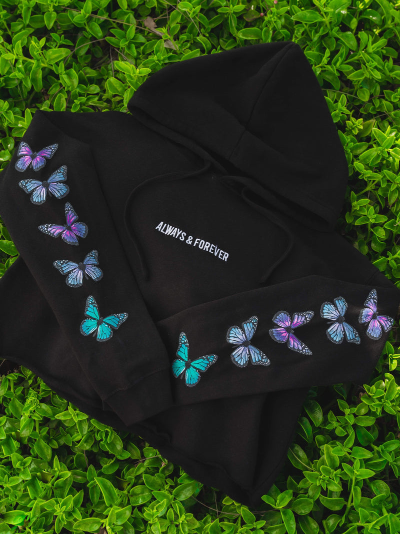 Butterfly Effect Crop Hoodie - dripcreation