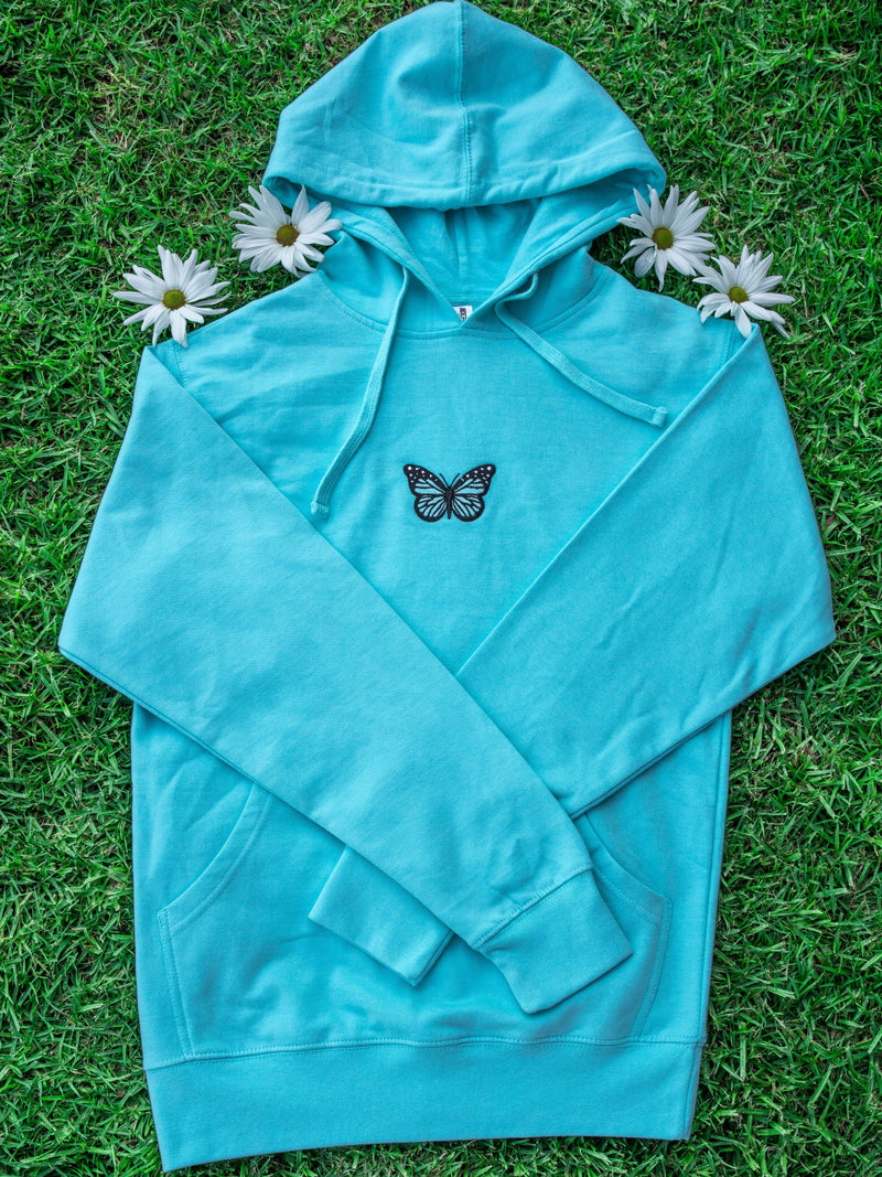 Lonely Butterfly Hoodie (Green) - dripcreation