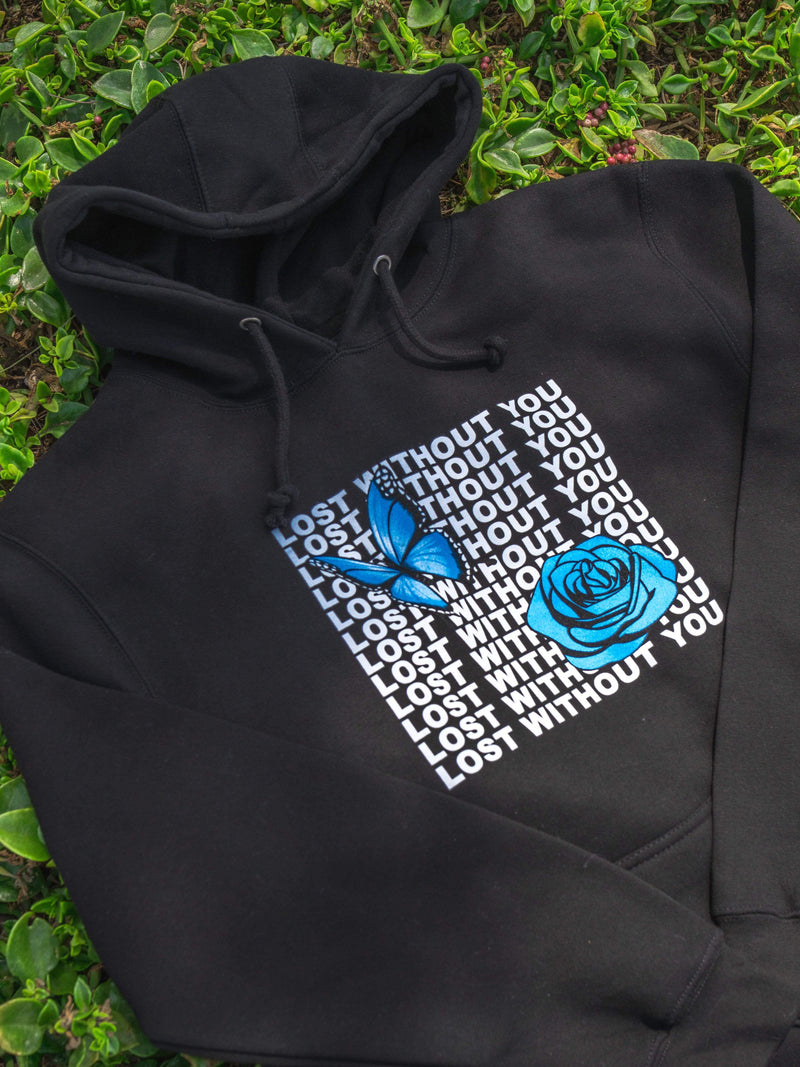 Lost Without You Hoodie (Black) - dripcreation
