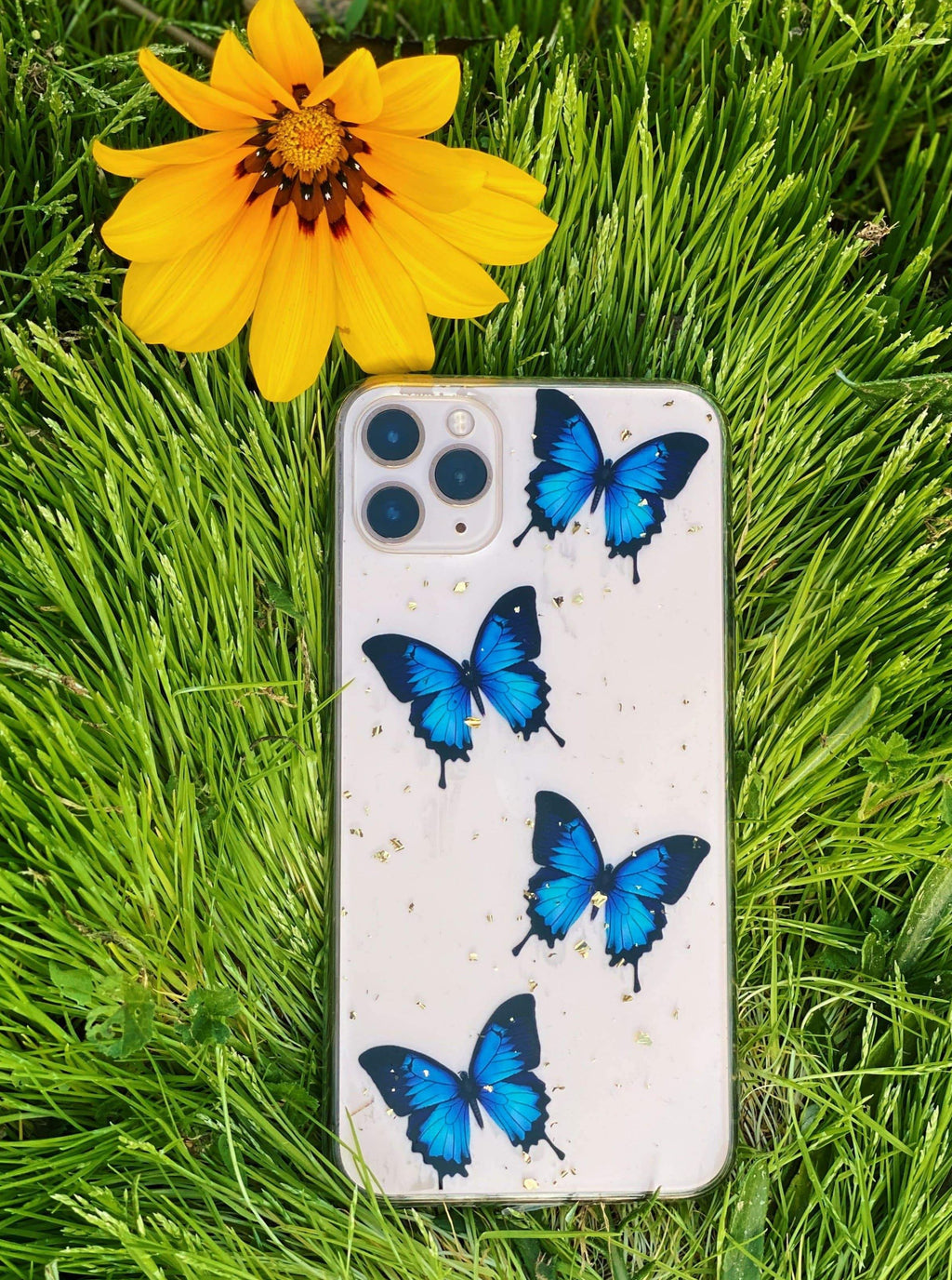 Blue Drip Butterfly iPhone Case - dripcreation