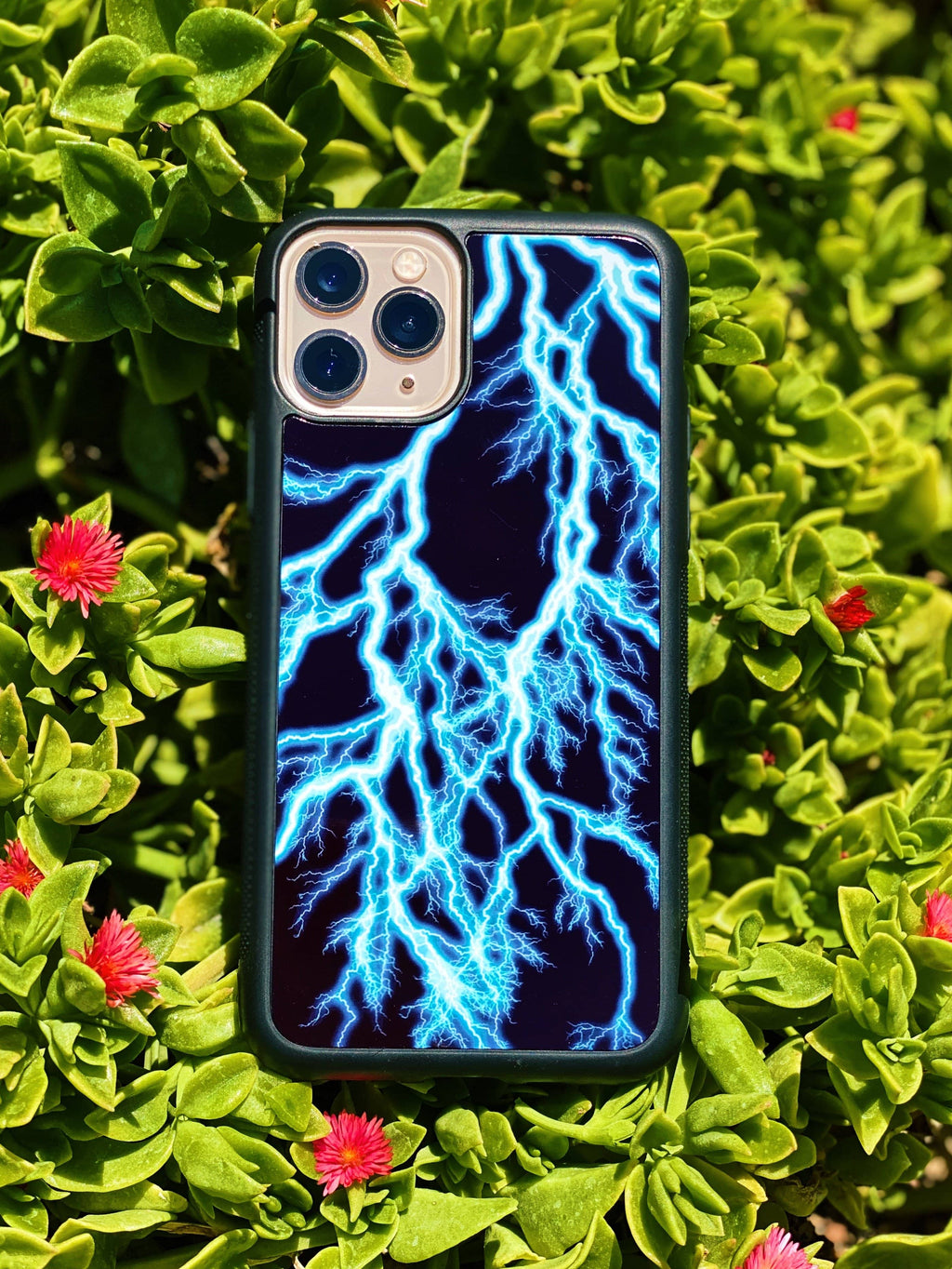 Blue Lightning iPhone Case - dripcreation