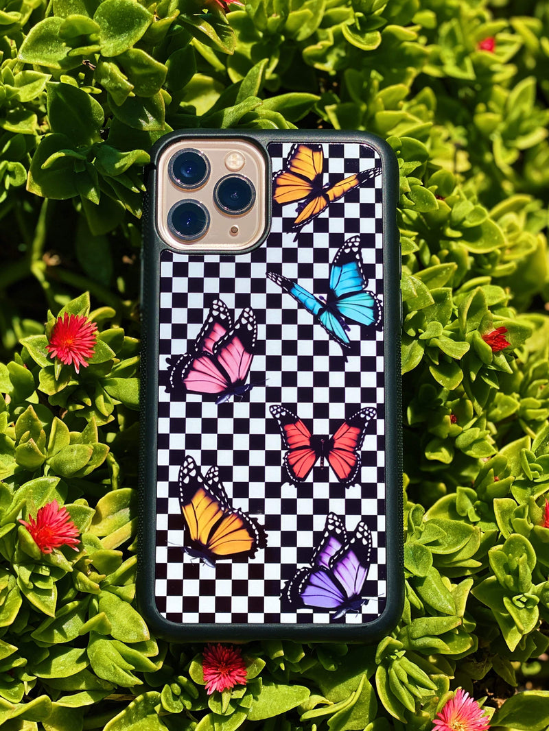 Butterfly Checkered iPhone Case - dripcreation