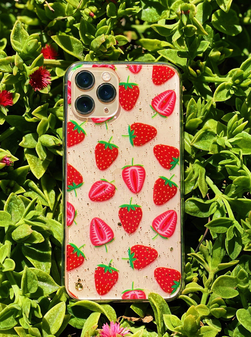Strawberry  iPhone Case - dripcreation