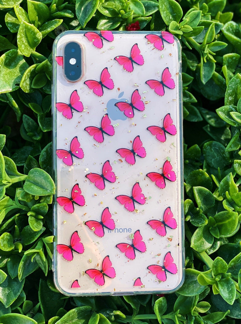 Pink Butterfly iPhone Case - dripcreation