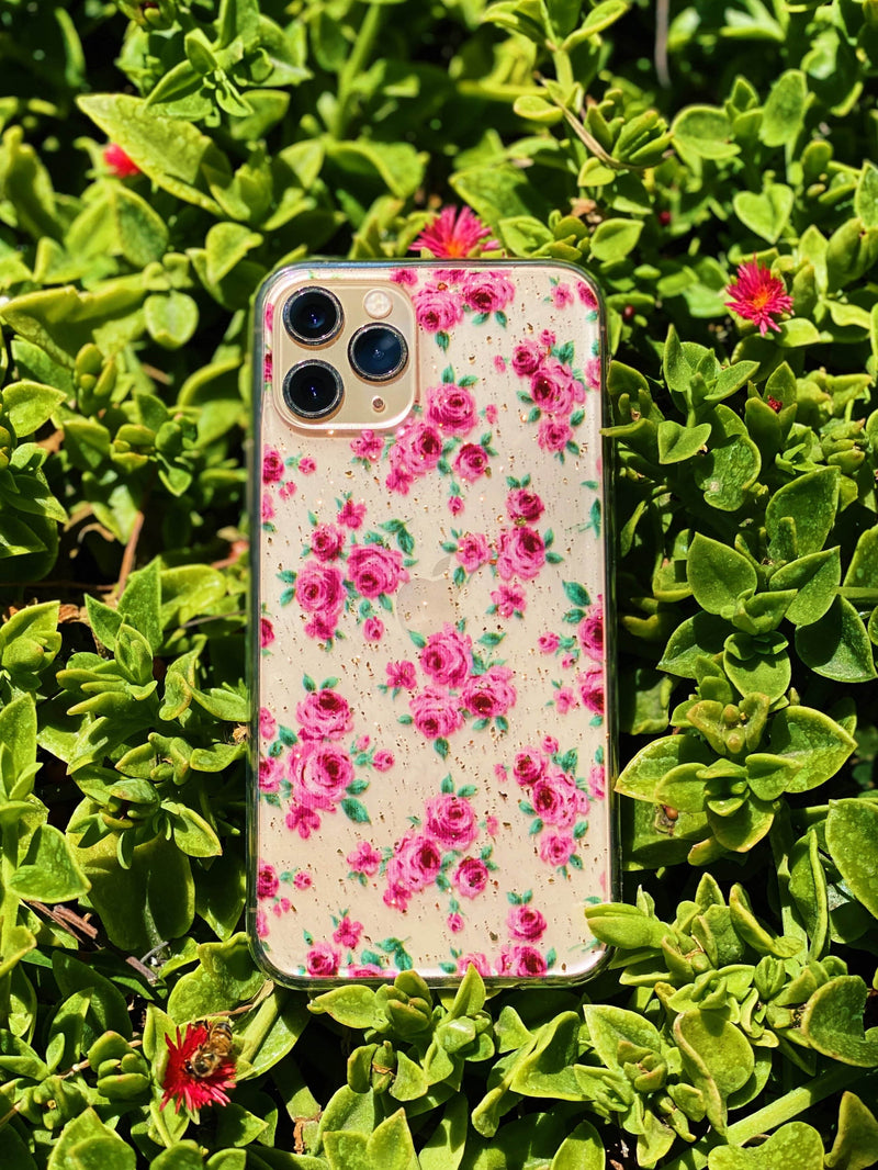 Pink Flowers iPhone Case - dripcreation