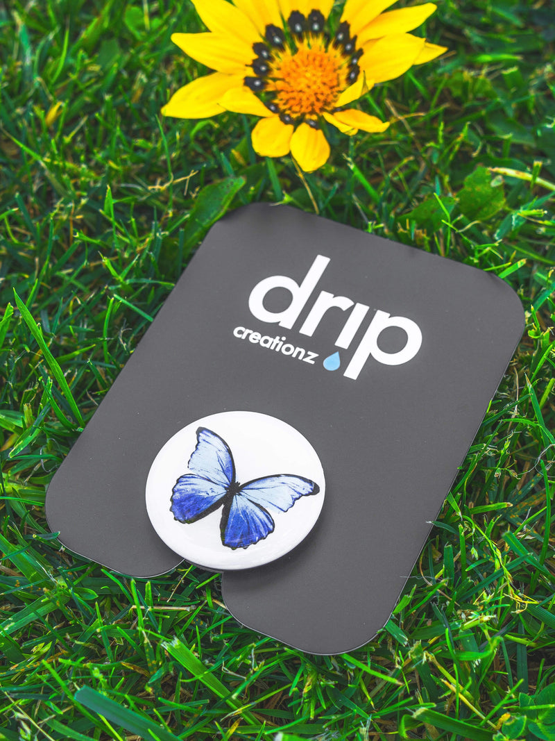 Blue Butterfly Phone Holder - dripcreation