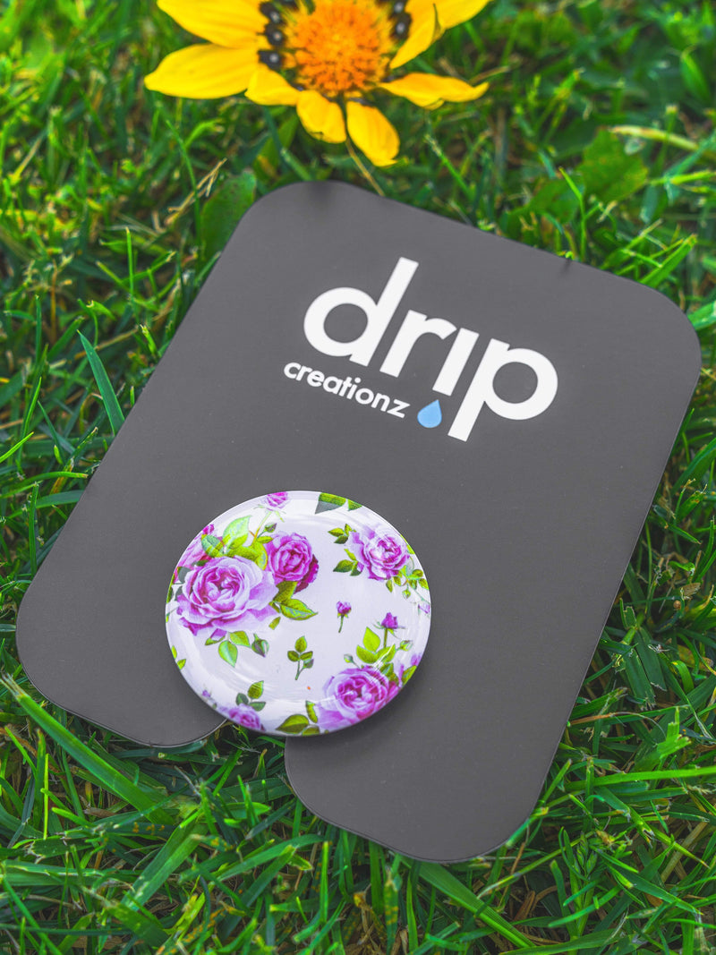 Magenta Flowers Pop Socket - dripcreation