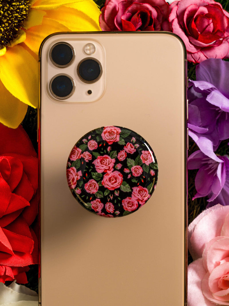 Pink Roses Phone Holder - dripcreation