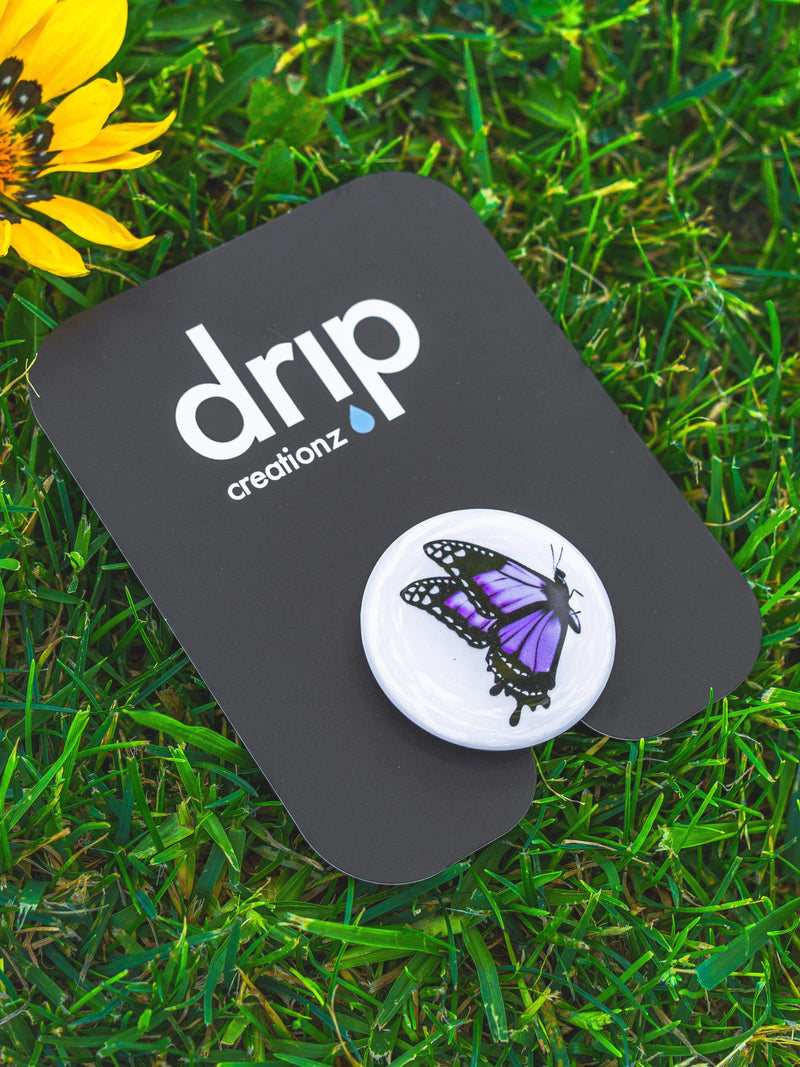 Purple Butterfly Pop Socket - dripcreation