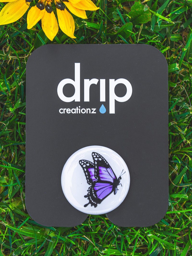 Purple Butterfly Phone Holder - dripcreation