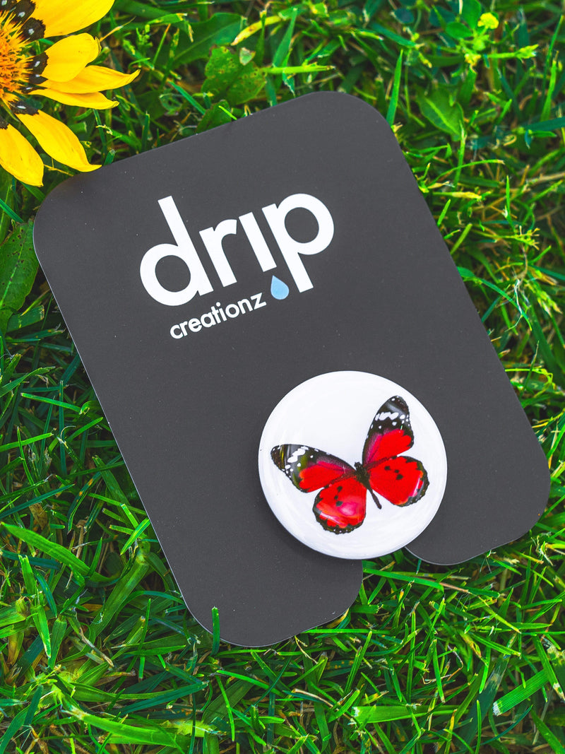 Red Butterfly Phone Holder - dripcreation