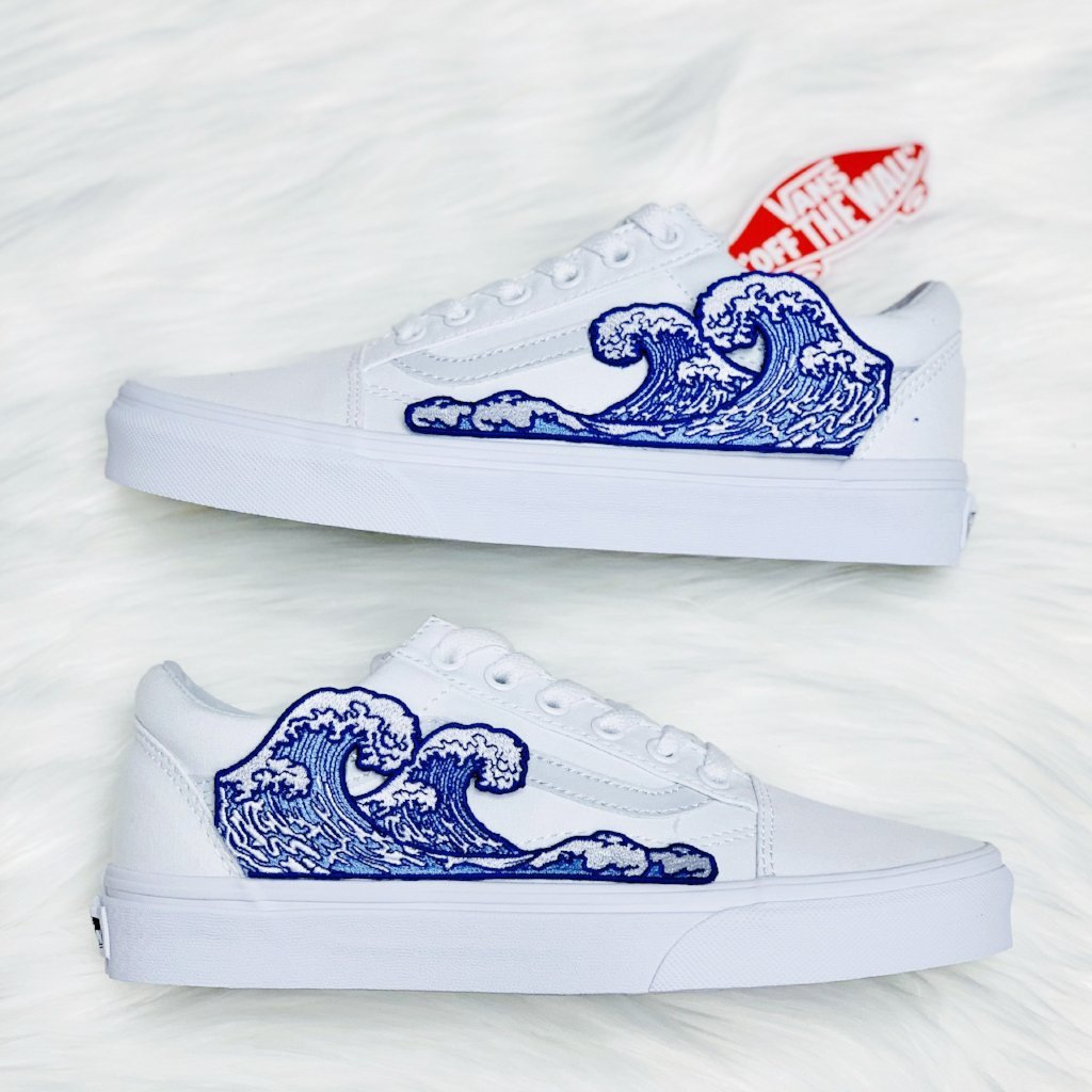Wave White Old Skool - dripcreation