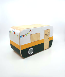 Happy Camper - Campground Green & Buffalo Plaid