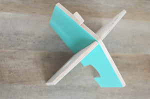 COTTAGE - Turquoise/Natural Birch Color